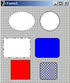 Пример с компонентам Shape