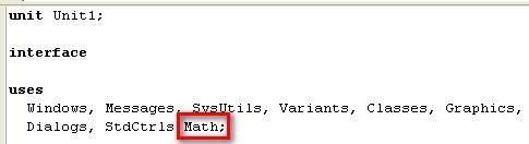 подключение модуля Math